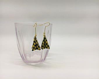 Origami earrings, paper earrings, paper jewelry, origami jewelry, origami jewels, origami jewellery