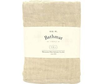 Nawrap Natural Linen Bathmat, Naturally Antibacterial
