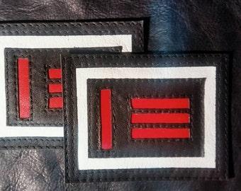 M/s Master slave Pride Flag Leather Pride Vest Patch