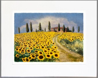 Any Original, Limited Edition, Fine Art Photograph matted and ready for a 32x40 frame (Sunflowers 1 shown)