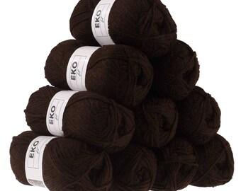 10 x 50g knitted Yarn eko fil, #042 Brown