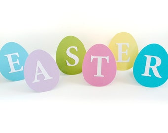Easter Eggs  Stand-Up Decoration Sign Set