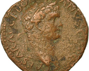 coin domitian as 77-78 lyons vf(20-25) copper ric 1290