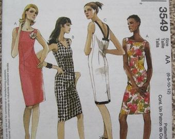 UNCUT Misses / Miss Petite Dresses - McCalls Pattern 3549