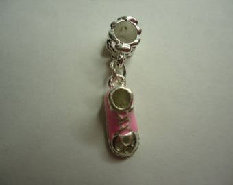 Pink and silver basketball charms bracelet charm