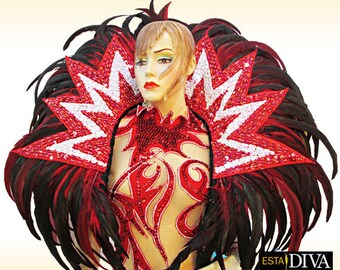 Feather Backpack - Circus Star - Shoulder Dress, Federkragen, Schulterschmuck