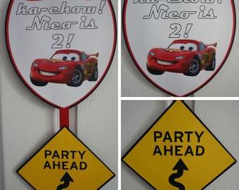 Pixar / Disney Cars Birthday Door Sign - MADE TO ORDER