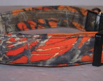 Blaze Orange MC2 Camo Dog Collar Camouflage True Timber