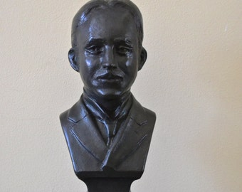 "Nikola Tesla Sculpture Bust 10.5"" Tall- Free Shipping"