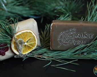 Birch tar shampoo for dreads & Body soap bar - Natural Vegan shampoo bar - Solid shampoo bar