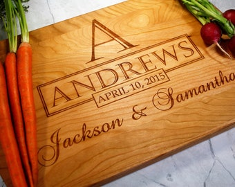 Personalized Kitchen Gift - Wooded Cutting Board - Monogrammed - Husband Gift - Wife - Anniversary Gift - Kitchen Gift - Wedding Present