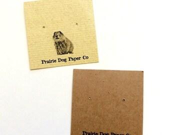 Ohrring Postkarten, 2 x 2, Schmuck-Display-Karte, Ohrring-Tag, individuell bedruckt, 40, personalisierte Karten set