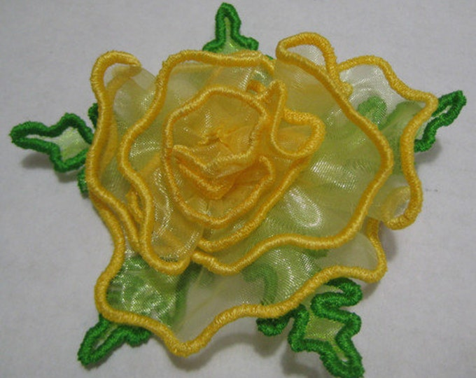 Free Standling Applique 3D Flower Project #393 ( Machine Embroidery Design from ATW )