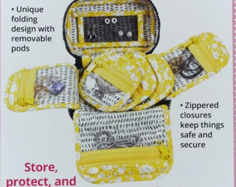 Treasures & Trinkets Printed Sewing Pattern, byAnnie, by Annie, Storage, Case, Travel, Jewelry, Luggage