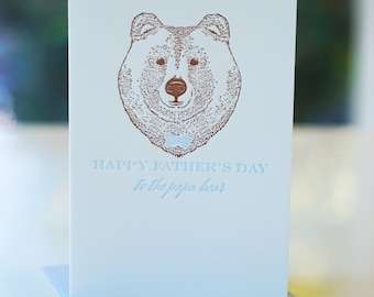 Happy Father's Day Letterpress Card