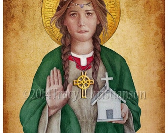 St. Dwynwen, Catholic Welsh Patron Saint of lovers and sick animals #4076