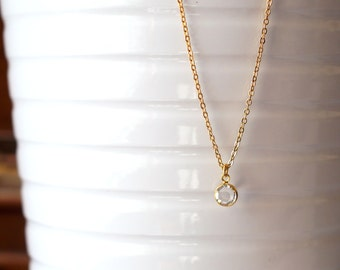 144) Simple Swarovski Birthstones Necklace *Gold