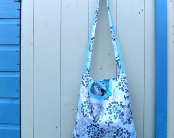 Dandelion - Blue and Grey - 2 in 1 peg bag / Clothespin bag - Original Beaky design
