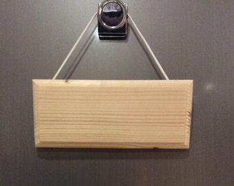 Plain door plaque