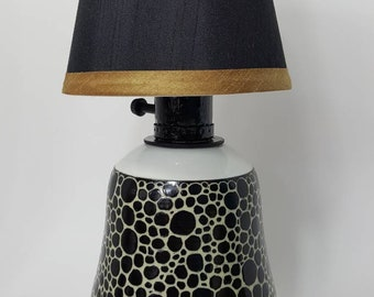 Lamp, Handmade Lamp, Pottery Lamp, Desk Lamp, Accent Lamp, Wheel Thrown Lamp, Lighting
