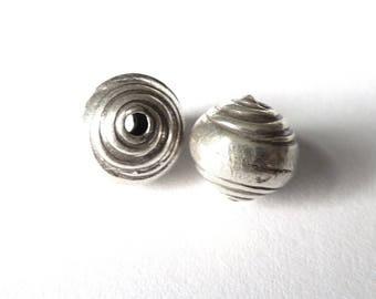 Pearl 925 sterling silver with spiral 9x10mm PN34 - 1.25 G 029