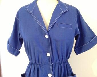 Blue Rockabilly Dress size 8