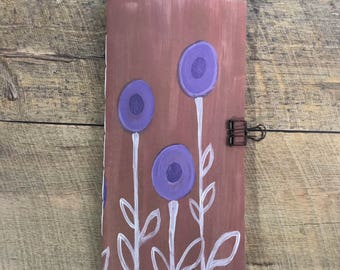 Purple Flower Travelers Notebook Insert - Midori Insert - TN Insert - Scrapbooking Insert - Planning Insert  - Art Insert - Various Sizes