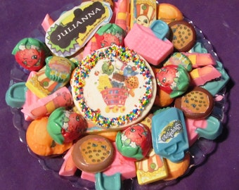 Shopkins chocolates candy tray