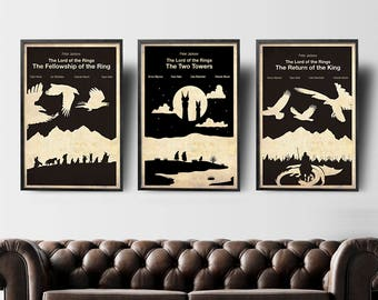 Peter Jackson Collection - The Lord of the Rings Movie Posters Set of 3 Posters