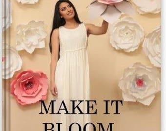 Paper flowers magazine - Paper Flower Template – DIY paper flowers - paper flowers tutorial