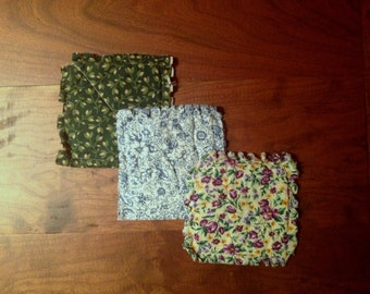 Country Quilted Coasters Set of 3