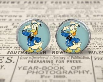 Vintage Donald Duck Earrings