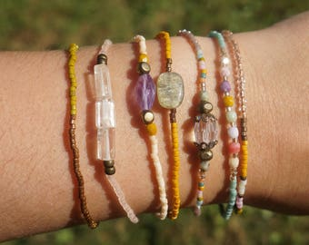 Gemstone Packed Set of Bracelets (Seven)