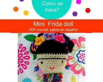 Frida Kahlo Amigurumi - Mini Frida Doll
