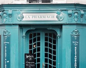 Paris Photography - La Pharmacie, France Travel Photograph, French Home Decor, Large Wall Art