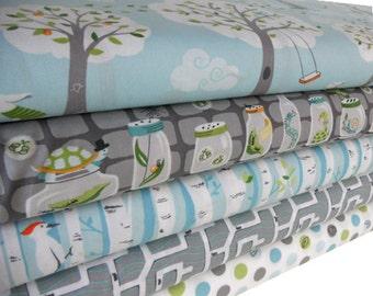 Half Yard Bundle - BACKYARD BABY - Michael Miller Fabrics - 5 pcs