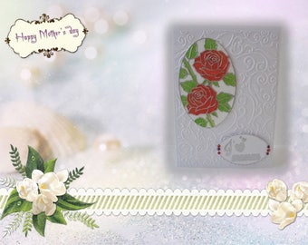 FM-2017-0001 - card mother - Bouquet of roses inset