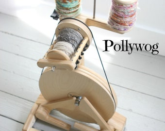 POLLYWOG SPINOLUTION - Spinning Wheel, Beginners Wheel Open Orifice for Art Yarns - Free Shipping USA