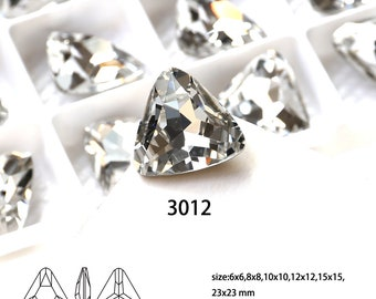 Triangle Clear Fancy Stones Rhinestones Wholesale For Jewelry Making