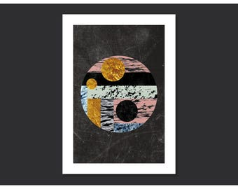 Abstract Circle I-texture-abstract A4 art print, geometric, minimalist, circle, textures