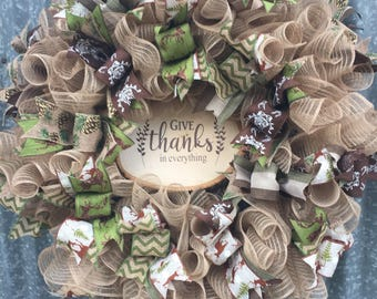 Woodland fall and Christmas wreath