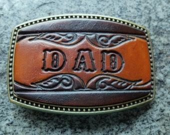"""Leather """"Name"""" Buckle-Made to be personalized with up to 5 letters"""