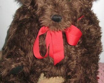 Handcrafted Original Faux Fur Big Jointed Teddy Bear 26 Inches Free Shipping