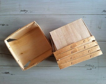 Wood Berry Baskets, Berry Baskets, (12) Quart Favor Baskets, Wedding, Gift Baskets