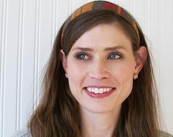 Fall Plaid Headband, Womens Fabric Headband - Adult Headband - Womens Hair Accessories