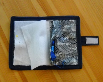 Ocean Waves Needle Book, Needle Case, Hand Sewing Organizer