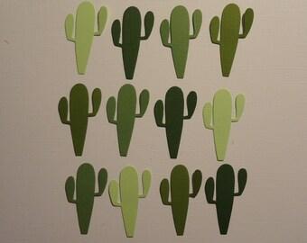 12 Cactus Scrapbooking Embellishments Card Making Desert Plant Cacti Paper Crafts Die Cuts