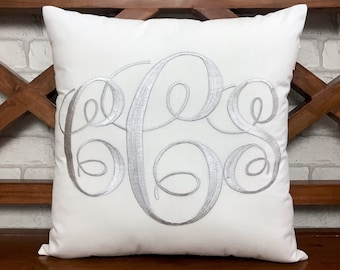 30% OFF Monogram Pillow Personalized Valentine Kids Nursery Gift Dorm Decor Mr and Mrs Wedding Housewarming Gift in all Sizes and Colors.