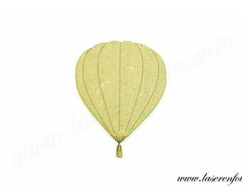 Hot air balloon and her basket, made of medium size 5cm