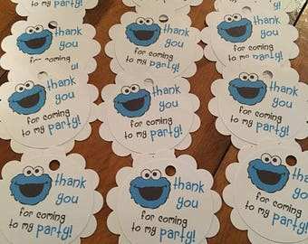 12 Sesame Street Party Favor Tags...your choice